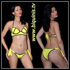 Biquíni IT GIRL 3D Yellow com bojo Ref.1321 Tamanhos P,M e G.