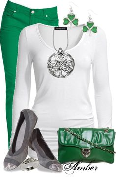 """""""Celtic Shamrock Necklace"""" by stay-at-home-mom ❤ liked on Polyvore"""