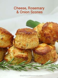 cheese, rosemary & spring onion scones - with tips to make them high and fluffy! Savory Muffins, Savory Snacks, Recipe For Savory Scones, Scone Recipes, Cheese Recipes, Savoury Baking, Savoury Biscuits, Bread Baking, Side Dishes