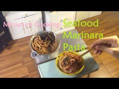 Miniature Food Cooking: Seafood Marinara Pasta (tiny cooking show) (kids kitchen) - YouTube