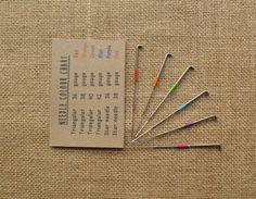 30 mixed felting needles star and triangular - rainbow colour coded - wool roving - yarn - needle felting - animal - amigurumi - kawaii
