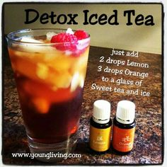 Yummy Detox Iced tea made with Young Living essential oils