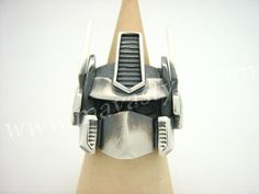 Sterling Silver Optimus Prime Autobot Transformers Ring, via Etsy.