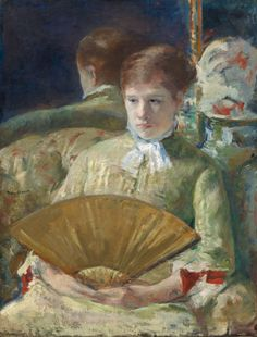 Mary Cassatt, Woman With a Fan 1878/1879 on ArtStack #mary-cassatt #art