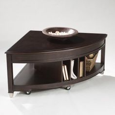 Love this triangle coffee table!