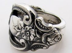 beautiful... ring made from a handle of a spoon