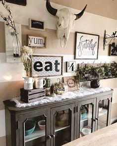 Spring Buffet Table Decor Picket Fence Vanessa S Home Pinterest