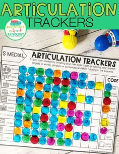 Combining some data collection with articulation therapy is fun with these trackers. Students become part of the carryover process determining if they said words correctly or not and were able to use in different positions and levels.