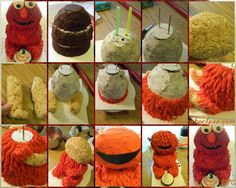 3d Baby Elmo Cake Tutorial - Who doesn't love Elmo?? He is a favourite among many children throughout many generations. Here's a short tutorial on how to make him in cake. This is for a cute baby Elmo. Great for first birthdays or baby showers... Find step-by-step tutorial here→http://www.thecakeclass.com/2011/11/3d-baby-elmo-cake-tutorial.html