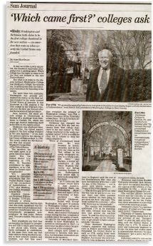 The Great Date Debate of 2002: I reached out to Dickinson College with a collaborative PR idea. The story appeared in papers all over the country.
