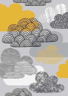 I Love Clouds limited edition giclee print by EloiseRenouf on Etsy