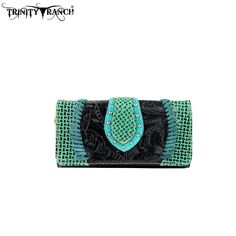 TR32-W002 Trinity Ranch Tooled Design Collection Wallet - New Arrival