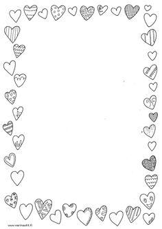 Ystävänpäivä reunus Cute Coloring Pages, Coloring Books, Cadeau Parents, Kindergarten Portfolio, Planner Doodles, Quiet Book Templates, Happy Birthday Wallpaper, Doodle Frames, Besties
