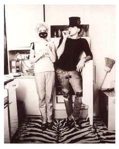 1979 Debbie Harry And Chris Stein Taken By Annie Leibovitz In Kitchen New York