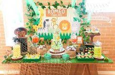 Image result for jungle party table