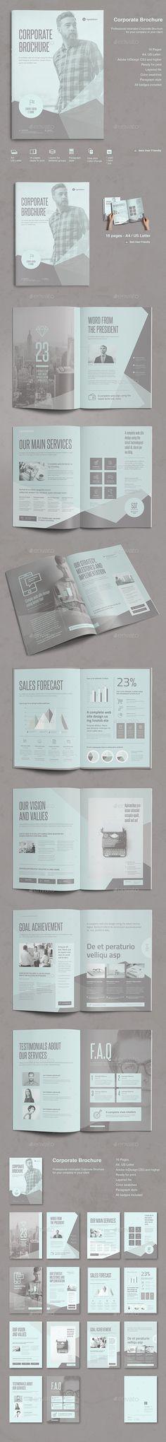 Corporate Brochure Template InDesign INDD, AI Illustrator