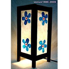 Oriental zen bedside table lamp lantern lampshade / home yard garden decor / housewares furniture / night light lighting shades Flower TBM33