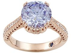 Vanna K (Tm) For Bella Luce (R) 5.98ctw Lavender Color & Diamond Simulant Eterno (Tm) Ring