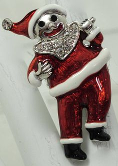 Funky Santa Claus Ring/Holiday/Christmas Jewelry/Statement