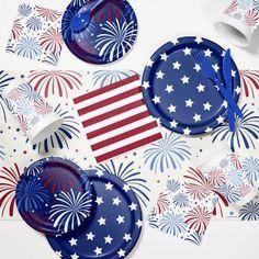 Patriotic Party Supplies Kit Multicolor  sc 1 st  Pinterest & Patriotic Tableware Set Party Tableware Set Party Supplies Set ...