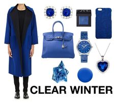 CLEAR WINTER by camilavillavicencio on Polyvore featuring TOMORROWLAND, Hermès, Montblanc, Dolce&Gabbana, NARS Cosmetics, Thierry Mugler and Jin Soon Clear Winter, Dark Winter, Seasonal Color Analysis, Pink Cheeks, Bright Spring, Thierry Mugler, Winter Springs, Winter Colors, Type 4