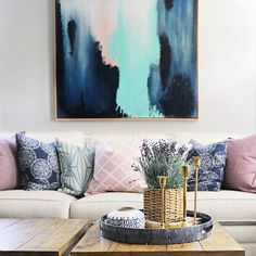The bold and the beautiful! This abstract print adds a touch of drama to this chic seat. Cozy Home Decorating, Bold And The Beautiful, Take Me Home, Cozy House, Abstract Print, Farmhouse Decor, Home Goods, House Styles, Instagram Posts