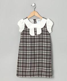 Gray Plaid Elizabella Dress - Toddler & Girls