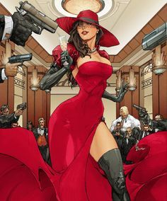 )A recolored cover of Madame Mirage (Her usual colors are just black and white). But, with a slight wardrobe color change, she totally could pull off Carmen Sandiego. Carmen Sandiego, Bd Comics, Comics Girls, Comic Books Art, Comic Art, Pin Up Kunst, Pinup, Character Inspiration, Character Art