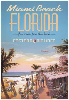 Miami Beach Affiches par Kerne Erickson sur AllPosters.fr