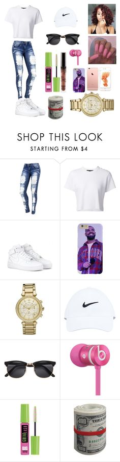 """""""I'm feelin' myself 😋💗"""" by confessioncl0set ❤ liked on Polyvore featuring Proenza Schouler, NIKE, Michael Kors, Beats by Dr. Dre and Maybelline"""