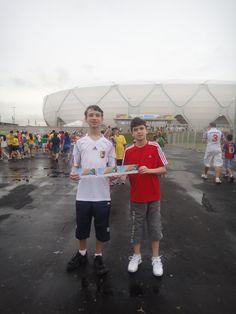 llegamos por fin al estadio