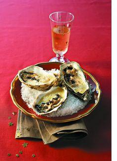 Huîtres au sabayon de champagne