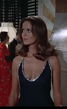 Barabara Bach as Anya Amasova in The Spy Who Loved Me - possibly my favourite Bond girl dress ever
