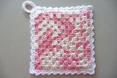 Ravelry: Granny Square Potholder Pocket pattern by Priscilla Hewitt ~ free pattern