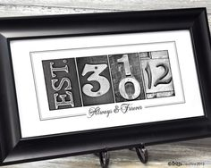 Good for a save the date, or a framed wedding anniversary