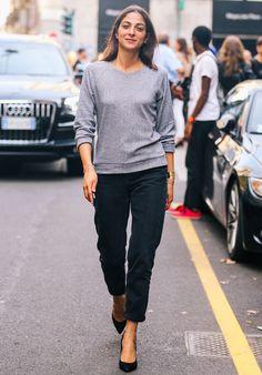 Capucine Safyurtlu in black & grey #style #fashion #streetstyle