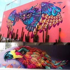 Pintura mural transforma paredes ociosas em galerias de arte stylo urbano