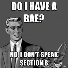 do i have a bae? no, i don't speak section 8 | same goes for boo, axe, swag and fleek.