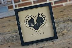 Baby Footprints Frame, perfect valentine for Grandparents Baby Crafts, Crafts To Do, Crafts For Kids, Baby Footprint Crafts, Baby Footprints, Handprint Art, Baby Love, Baby Baby, New Baby Products