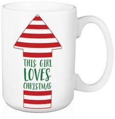 "Designs Direct ""This Girl Loves Christmas"" Arrow Coffee Mug - affiliatelink"