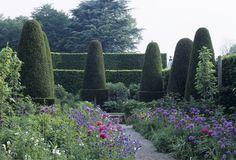 The Pillar Garden at Hidcote Manor, Gloucestershire. Norah Lindsay, Garden Designer.  ©National Trust Images/Stephen Robson