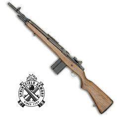 My favorite rifle, the Springfield M1A, a civilian semi-automatic action version of the Military's M14 select-fire rifle, chambered in 7.62 x 51; the double bolt operation is superb.