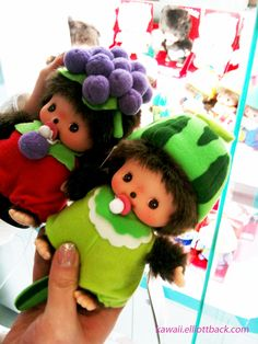 "Monchhichi came originally from a Japanese animated series known as ""Futago no Monchhichi""....so Kawaii!"