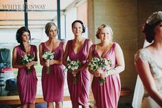 Our gorgeous bride Tarryn chose the Lauren and Cameron Dresses by Pia Gladys Perey. The girls looked so beautiful in the Old Rose colour.#realrunway #realwedding #whiterunway