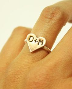 Sweethearts Engraved Ring