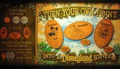Coin Press Souvenirs - Collections by Disney Locations (with map) of the penny presses at both Disneyland and Disney World