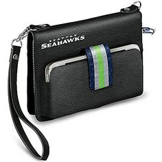 NFL-Licensed Seattle Seahawks Emerald City Chic Mini Handbag With Glittering Team Colors