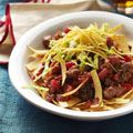 Frisee Salad with Shiraz Poached Pears, Roquefort, and Hazelnuts Recipe - Delish.com