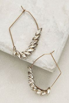 Almond Geo Hoops by Anthropologie