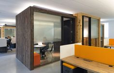 Confidential Tech Companys Palo Alto Offices  Organic textures, soft lighting, open but private meeting spaces